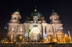 Berlin Cathedral at night. Berlin, Germany Royalty Free Stock Image