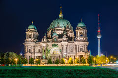 Berlin Cathedral at night (Berliner Dom), Berlin, Germany Stock Photo