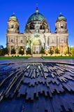 Berlin cathedral at night Stock Photography