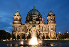 Berlin Cathedral at night Royalty Free Stock Photo