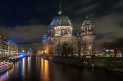 Berlin Cathedral at Night Stock Photos