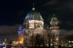 Berlin Cathedral at Night Royalty Free Stock Image