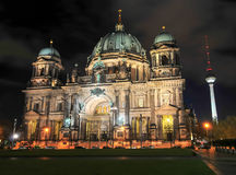 Berlin Cathedral at Night Stock Image