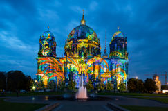 Berlin Cathedral at night Royalty Free Stock Photography