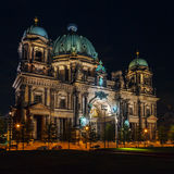 Berlin Cathedral at Night, Germany Stock Images