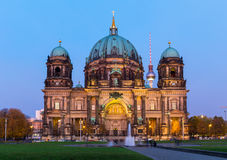 Berlin Cathedral at night Royalty Free Stock Photo