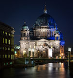 Berlin Cathedral (Berliner Dom). Night view on Berlin Cathedral Stock Photos