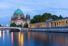 Berlin Cathedral op Museumeiland, Duitsland Stock Afbeeldingen