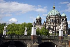 Berlin Cathedral and the Palace Bridge, Germany royalty free stock photo