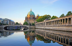 Berlin Cathedral from the river spree in the early morning. Berlin, Germany Stock Photos