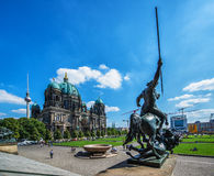 Berlin Cathedral and the sculpture near Altes Museum Stock Photo