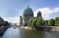 Berlin Cathedral beside Spree River Royalty Free Stock Photography