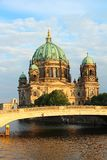 Berlin Cathedral and Spree river Stock Images