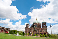 Berlin Cathedral in spring Stock Photos