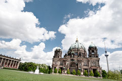 Berlin Cathedral in spring Royalty Free Stock Images