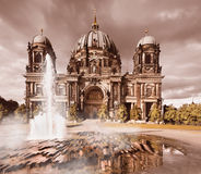 Berlin Cathedral after storm Stock Image