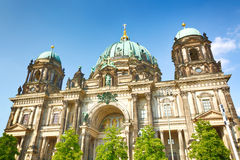 The Berlin Cathedral on a sunny summer day stock image