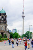 Berlin Cathedral And Television Tower Stock Photo