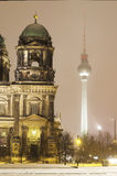 Berlin Cathedral and television tower Royalty Free Stock Images