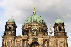 Berlin Cathedral with TV Tower, Germany Royalty Free Stock Image