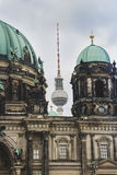 Berlin Cathedral and The TV Tower near that.  Stock Image