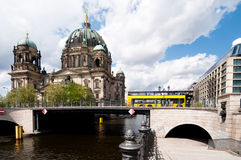 Berlin Cathedral, view over water Royalty Free Stock Photo