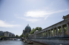 Berlin cathedral. View of the cathedral on the river in berlin Royalty Free Stock Images