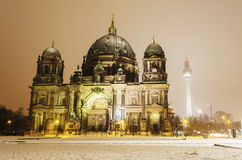 Berlin Cathedral Winter Immagine Stock