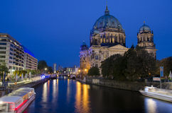 Berlin Cathedrale at night Stock Photography