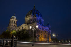 Berlin Cathedrale at night Royalty Free Stock Photography