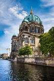 Berlin Catherdal from across the water Stock Images