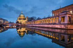 Berlin catherdral at night Stock Images