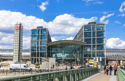 Berlin Central Railway Station Berlin Hauptbahnhof Stock Photography