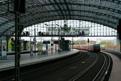 Berlin Central Station. Royalty Free Stock Photo
