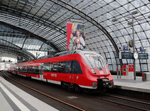 Berlin Central Station. Germany.  the central station of Berlin - the largest and modern railway station of Europe Royalty Free Stock Photos