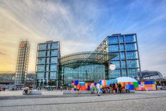 Berlin Central Rail Station - Germany Royalty Free Stock Photography