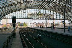 Berlin Central Station. Railway platform. Royalty Free Stock Image