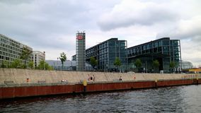Berlin Central Station_The starting point for a cruise on the Spree River to Berlin City royalty free stock image