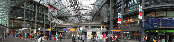 Berlin Central Station Stock Photography