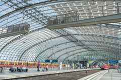 Berlin Central Train Station Germany arkivbilder