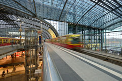 Berlin Central train station. On 23 November 2013 in Berlin, Germany. 1,800 trains call at the station per day and the daily number of passengers is estimated Stock Photography