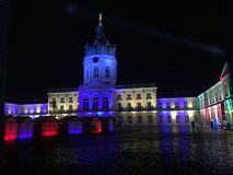 Berlin Charlottenburg Castle illuminated for Christmas royalty free stock images