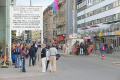 Berlin Checkpoint Charlie Royalty Free Stock Photo