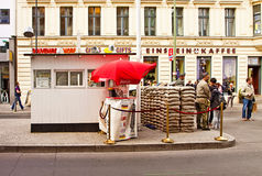 Berlin, Checkpoint Charlie: the sentry guard Stock Photo