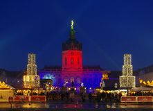 Berlin christmas market Charlottenburg Royalty Free Stock Photo
