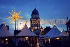 Berlin christmas market Stock Images