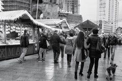 Berlin Christmas Market Kaiser-Wilhelm Arkivbild