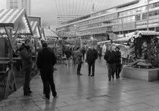 Berlin Christmas Market Kaiser-Wilhelm Arkivfoton