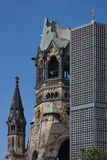 Berlin church. The old and new church in Berlin city centre royalty free stock photo