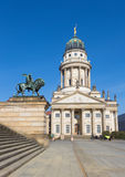 Berlin - The church French Dom and the memorial of Friedrich Schiller on the Gendarmenmarkt square Stock Photo